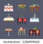 restaurant tables with drinks... | Shutterstock .eps vector #1286909665