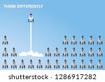 think differently   being... | Shutterstock .eps vector #1286917282