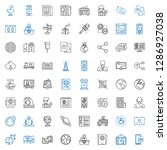 global icons set. collection of ... | Shutterstock .eps vector #1286927038
