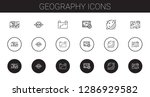 geography icons set. collection ... | Shutterstock .eps vector #1286929582