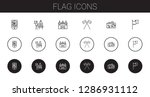 flag icons set. collection of...