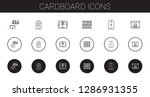 cardboard icons set. collection ... | Shutterstock .eps vector #1286931355
