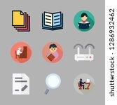 reading icon set. vector set... | Shutterstock .eps vector #1286932462