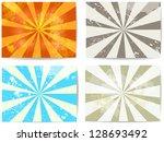 set of lined grunge backgrounds   Shutterstock .eps vector #128693492