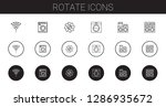 rotate icons set. collection of ... | Shutterstock .eps vector #1286935672