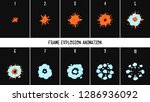 2d classic explode and smoke.... | Shutterstock .eps vector #1286936092
