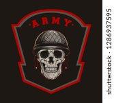 millitary skull army vector | Shutterstock .eps vector #1286937595