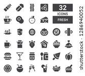 fresh icon set. collection of... | Shutterstock .eps vector #1286940052