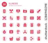illness icon set. collection of ... | Shutterstock .eps vector #1286940298