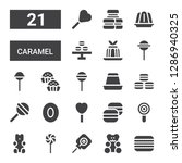 caramel icon set. collection of ...   Shutterstock .eps vector #1286940325