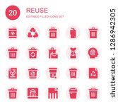 reuse icon set. collection of...   Shutterstock .eps vector #1286942305