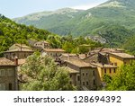 Small photo of Old towns along the Salaria road (Ascoli Piceno, Marches, Italy) at summer