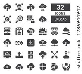 upload icon set. collection of... | Shutterstock .eps vector #1286944942