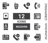 receiver icon set. collection... | Shutterstock .eps vector #1286945062