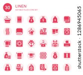 linen icon set. collection of... | Shutterstock .eps vector #1286945065