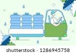 colorful modern flat cartoon... | Shutterstock .eps vector #1286945758