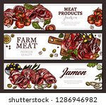 farm natural meat products and...   Shutterstock .eps vector #1286946982