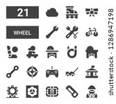 wheel icon set. collection of... | Shutterstock .eps vector #1286947198