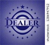 dealer badge with denim... | Shutterstock .eps vector #1286947912