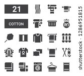 cotton icon set. collection of... | Shutterstock .eps vector #1286951815