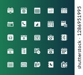 agenda icon set. collection of... | Shutterstock .eps vector #1286951995