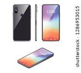 smartphone realistic 3d vector... | Shutterstock .eps vector #1286953015