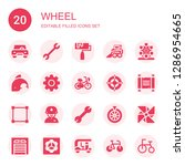 wheel icon set. collection of... | Shutterstock .eps vector #1286954665