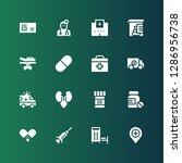 doctor icon set. collection of... | Shutterstock .eps vector #1286956738