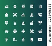 ambulance icon set. collection... | Shutterstock .eps vector #1286956885