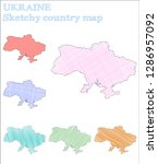 ukraine sketchy country.... | Shutterstock .eps vector #1286957092
