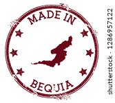 made in bequia stamp. grunge... | Shutterstock .eps vector #1286957122