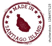 made in santiago island stamp.... | Shutterstock .eps vector #1286957125