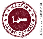made in grand cayman stamp.... | Shutterstock .eps vector #1286957128