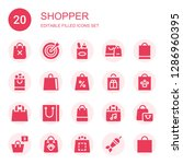 shopper icon set. collection of ...   Shutterstock .eps vector #1286960395