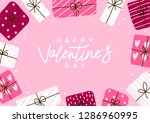 valentines day greeting card... | Shutterstock .eps vector #1286960995