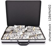 Case Full Of Dollar On White...