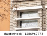 part of the facade of the...   Shutterstock . vector #1286967775