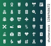 pulse icon set. collection of... | Shutterstock .eps vector #1286968672