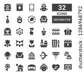 Decorative Icon Set. Collection ...