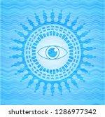 eye icon inside light blue... | Shutterstock .eps vector #1286977342