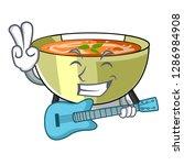 with guitar lentil soup on...