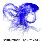 blue abstract figure from... | Shutterstock . vector #1286997538
