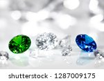 polished jewels  diamond  blue... | Shutterstock . vector #1287009175