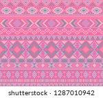 navajo american indian pattern... | Shutterstock .eps vector #1287010942