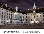 kaiser franz ii monument at the ... | Shutterstock . vector #1287018592