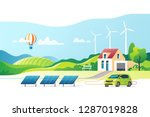 concept of eco friendly... | Shutterstock .eps vector #1287019828