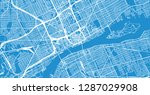 urban vector city map of... | Shutterstock .eps vector #1287029908