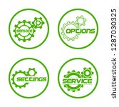 set service icons image of...   Shutterstock .eps vector #1287030325
