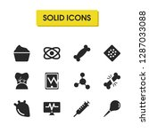 medicine icons set with atom ... | Shutterstock .eps vector #1287033088