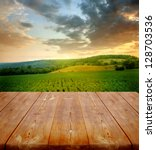 Summer Background With Wooden...
